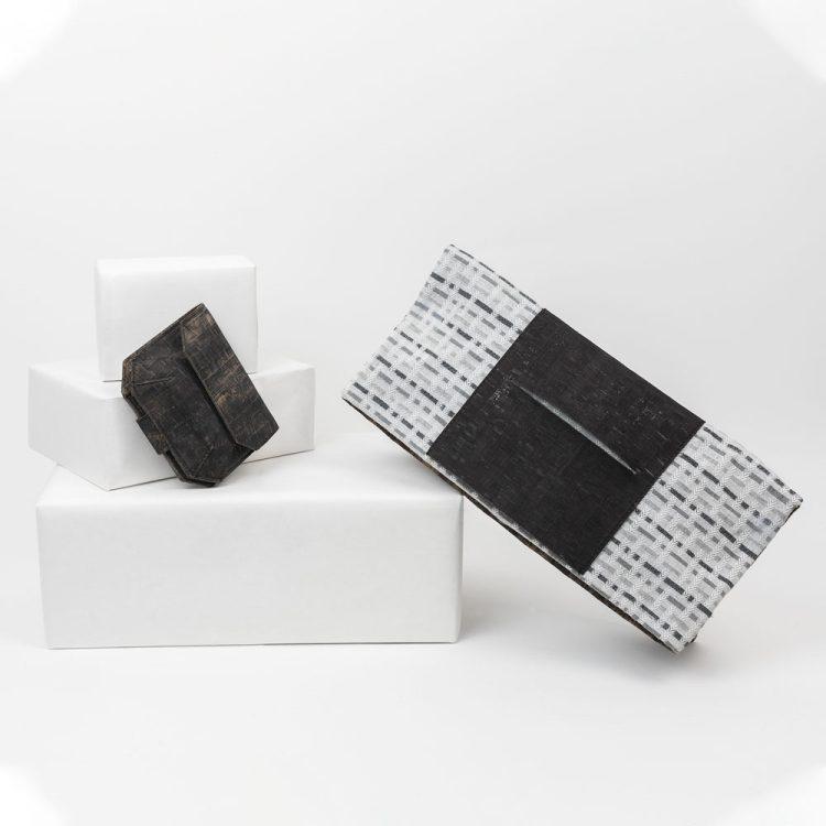 Borsa Tagliomano Sughero e tessuto + portafoglio sughero