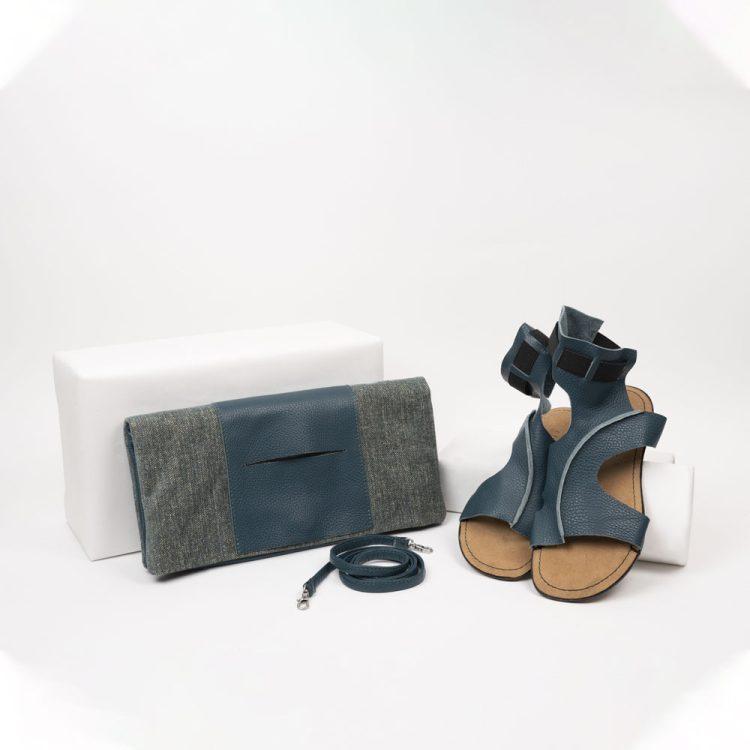 Tagliomano bag + avion slave sandal
