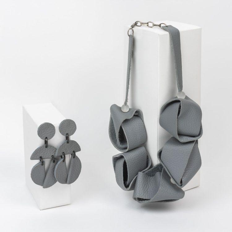 Collana cubik grande + orecchini omino